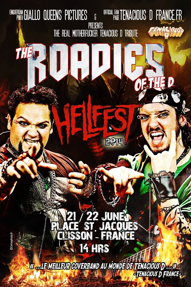 Soutenez les ROADIES OF THE D au Hellfest Warm Up de Nantes !